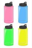 Conjunto de la botella de agua, fichero del vector (EPS) Fotografía de archivo libre de regalías