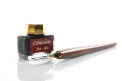 Conjunto de la caligrafía foto de archivo libre de regalías