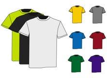 Conjunto de la camiseta aislado sobre blanco ilustración del vector