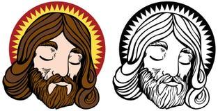 Conjunto de la cara de Jesús Fotos de archivo libres de regalías