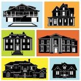 conjunto de la casa ilustración del vector