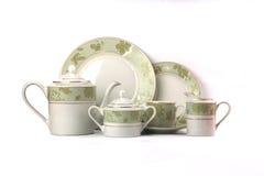 Conjunto de la cerámica de la porcelana Imágenes de archivo libres de regalías