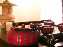 Conjunto de la ceremonia de té Fotos de archivo libres de regalías