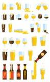 Conjunto de la cerveza Foto de archivo libre de regalías