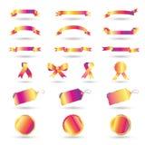 Conjunto de la cinta ilustración del vector
