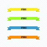Conjunto de la cinta del color Foto de archivo libre de regalías