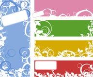 Conjunto de la colección de la bandera Imagenes de archivo