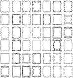 Conjunto de la colección de los marcos y de las fronteras del vector Fotografía de archivo