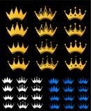 Conjunto de la corona Imagen de archivo libre de regalías