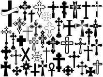 Conjunto de la cruz ilustración del vector