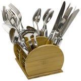 Conjunto de la cuchillería fotografía de archivo libre de regalías
