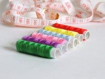 Conjunto de la cuerda de rosca coloreada Foto de archivo libre de regalías