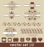 Conjunto de la decoración del vector Imagen de archivo libre de regalías