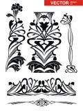 Conjunto de la decoración del vector Fotografía de archivo libre de regalías