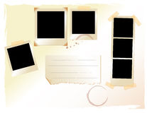 Conjunto de la disposición polaroid del pics fotos de archivo