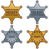 Conjunto de la divisa de la estrella del sheriff Imágenes de archivo libres de regalías