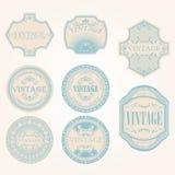 Conjunto de la escritura de la etiqueta de la vendimia Fotografía de archivo libre de regalías