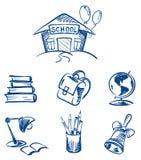 Conjunto de la escuela Imagen de archivo libre de regalías