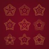 Conjunto de la estrella de Oriente Fotos de archivo libres de regalías