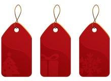 Conjunto de la etiqueta de la Navidad Imagen de archivo libre de regalías