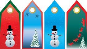 Conjunto de la etiqueta de la Navidad Fotos de archivo libres de regalías