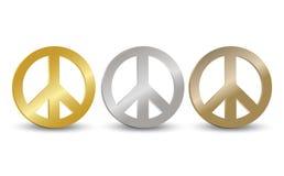 Conjunto de la etiqueta del símbolo de paz Imagen de archivo libre de regalías