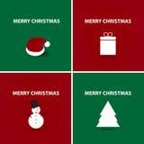 Conjunto de la Feliz Navidad Foto de archivo libre de regalías