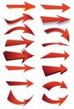 Conjunto de la flecha Imagen de archivo libre de regalías