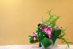 Conjunto de la flor fotos de archivo