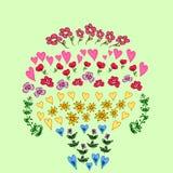 Conjunto de la flor Fotografía de archivo