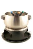 Conjunto de la 'fondue' Fotografía de archivo
