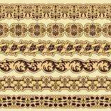 Conjunto de la frontera de la vendimia para el diseño Fotos de archivo