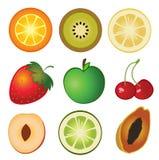 Conjunto de la fruta Fotografía de archivo