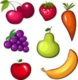 Conjunto de la fruta Foto de archivo libre de regalías