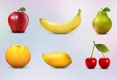 Conjunto de la fruta Fotos de archivo