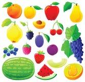 Conjunto de la fruta Foto de archivo