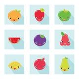 Conjunto de la fruta Fotos de archivo libres de regalías