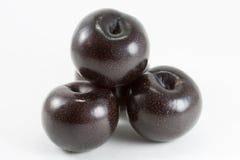 Conjunto de la fruta del ciruelo Imagenes de archivo