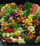 Conjunto de la fruta y verdura Foto de archivo