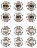 Conjunto de la garantía del 100% Imagen de archivo