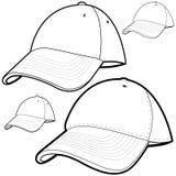 Conjunto de la gorra de béisbol Fotos de archivo