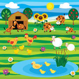 Conjunto de la granja Imagen de archivo libre de regalías