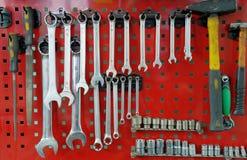 Conjunto de la herramienta de funcionamiento en el soporte Imagen de archivo