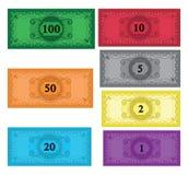 Conjunto de la historieta de dinero Fotos de archivo