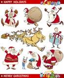 Conjunto de la historieta de temas de la Navidad Imagen de archivo
