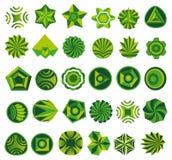 Conjunto de la insignia verde Imagen de archivo