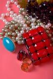 Conjunto de la joyería Foto de archivo libre de regalías