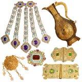 conjunto de la joyería de 200 años Imagen de archivo libre de regalías
