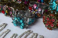 Conjunto de la joyería de la moda foto de archivo libre de regalías