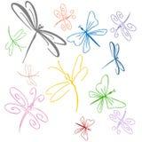Conjunto de la libélula stock de ilustración
